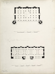 Baba Lului's mosque (left), Plan of Malik Alam's mosque (right)